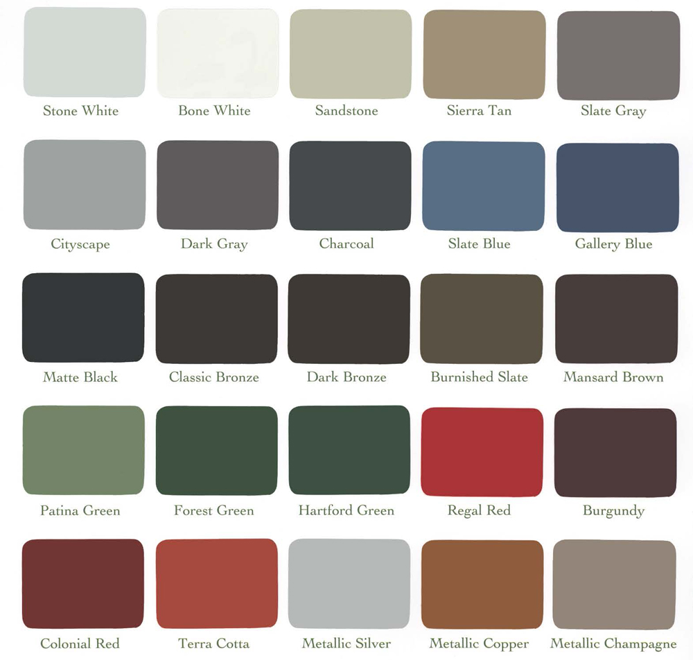 Metal Fabrication Color Chart Construction Services In